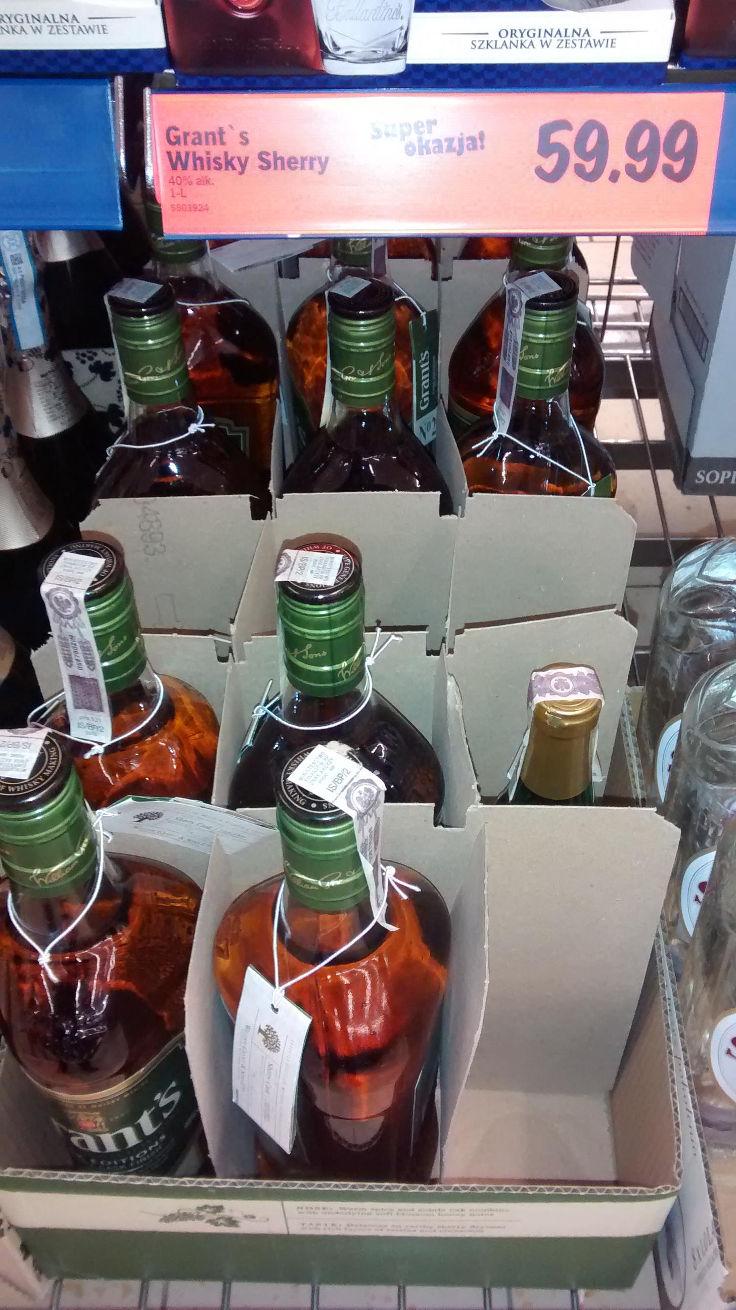 Grant's Sherry 1,L za 59.99  -  Lidl