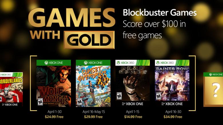 Darmowe gry dla posiadaczy Xbox Live Gold ma kwiecień