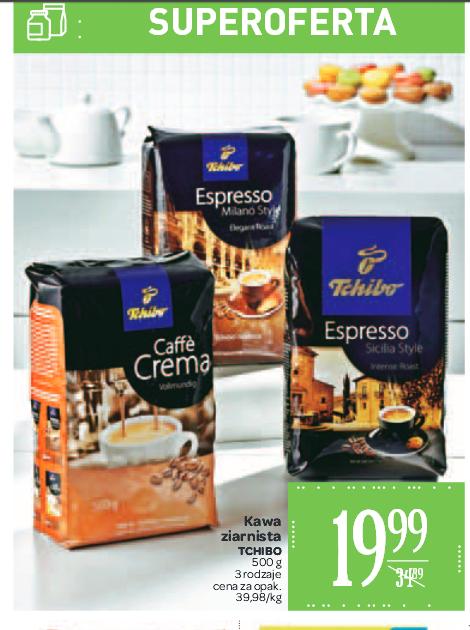 Kawa ziarnista Tchibo (3 rodzaje) 500g taniej o prawie 15zł @ Carrefour