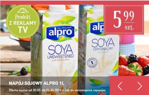 Napój sojowy Alpro 1L za 5,99zł @ Carrefour