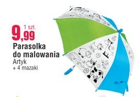 Parasolka do malowania + 4 flamastry za 9,99zł @ E.Leclerc