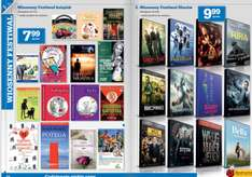 Wiosenny festiwal książek i filmów  (książki po 7,99zł, filmy 9,99zł) @ Biedronka