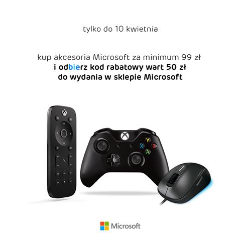 Kup akcesoria Microsoft za 99zł, a otrzymasz 50zł do wykorzystania w MIcrosoft Store @ X-Kom