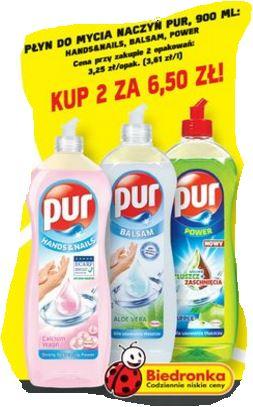 Płyn do mycia naczyń Pur w świetnej cenie @ Biedronka/Kaufland/Carrefour