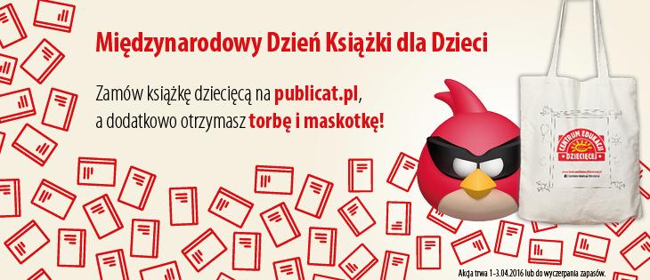Torba i maskotka Angry Birds przy zakupie książki dla dzieci @ Publicat