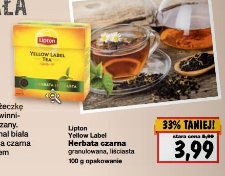 Herbata Lipton za 3,99zł @ Kaufland