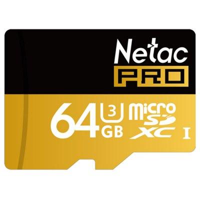 Karta pamięci Micro SD XC Netac P500 -  64GB  BLACK - klasa U3!