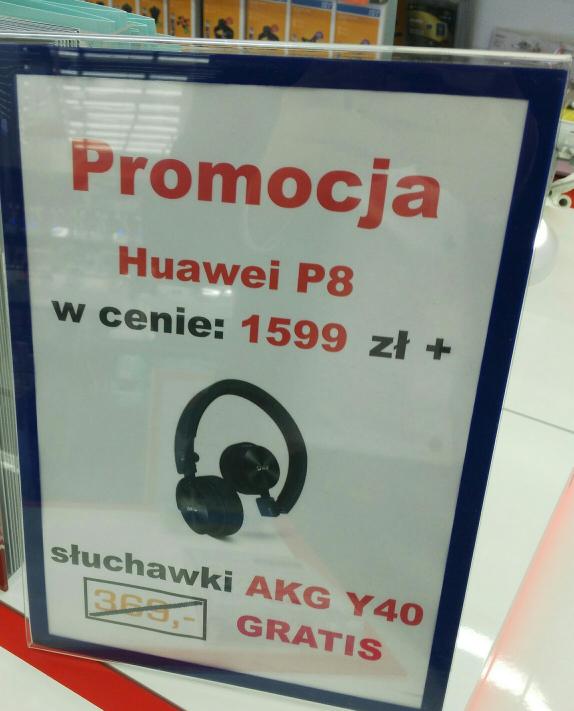 P8 plus sluchawki Akg Y40 gratis @Saturn