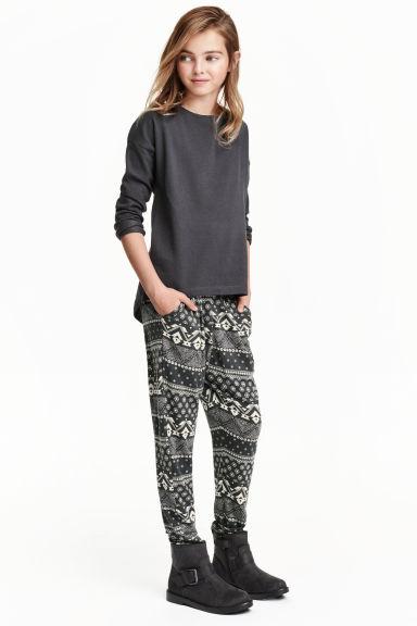 H&M Spodnie haremki dziewczynka  pełna rozmiarówka