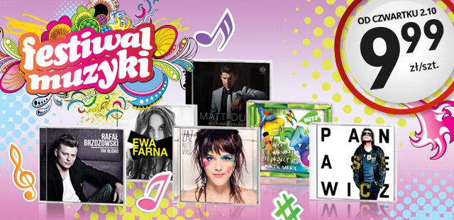 Festiwal muzyki, płyty CD za 9,99 zł (np.: Ewa Farna, Rafał Brzozowski, Paktofonika, Kombii i inne) @ Biedronka