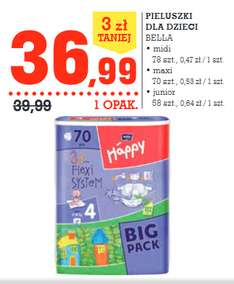 Pieluszki Bella Happy Big Pack za 36,99zł @ Intermarche