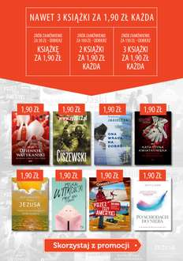 Książki za 1,90zł do zamówień od 50zł @ Znak