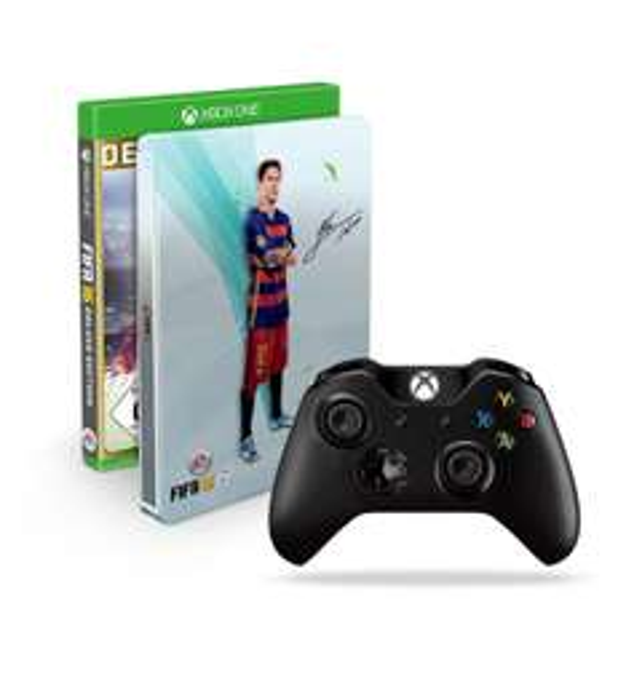 FIFA 16 Deluxe Edition  + steelbook + oryginalny pad Xbox One w komplecie za 266zł @ Amazon.de