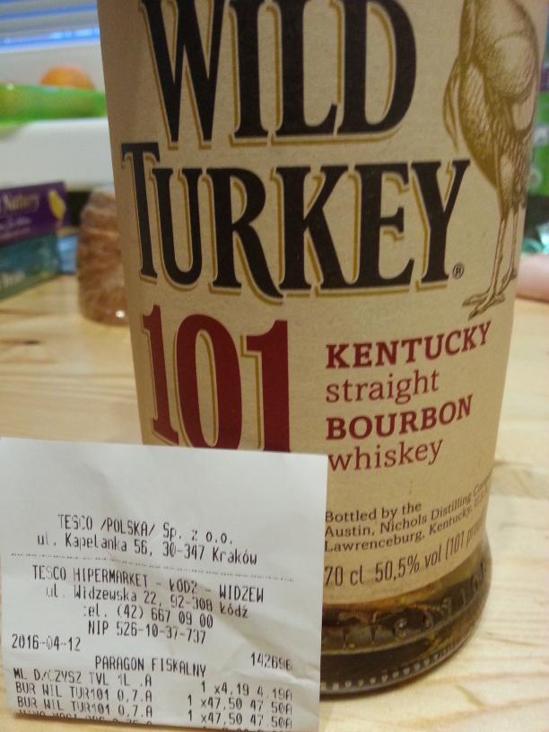Wild Turkey 101 bourbon whiskey 0.7 50.5% alk.