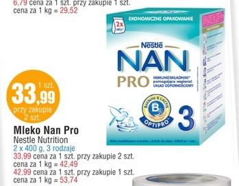 Mleko Nestle NAN Pro 800g za 33,99zł @ E.Leclerc