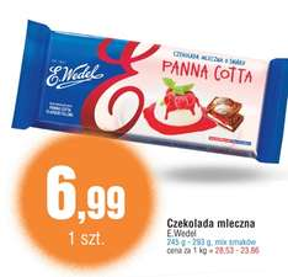 Duża czekolada (245-293g) Wedel za 6,99zł @ E.Leclerc