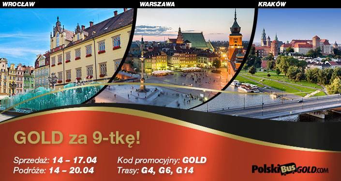 """PolskiBus """"GOLD za 9-tkę!"""""""
