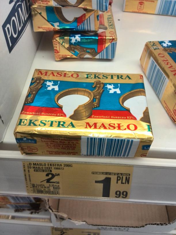 Masło Extra 82% :) @Auchan
