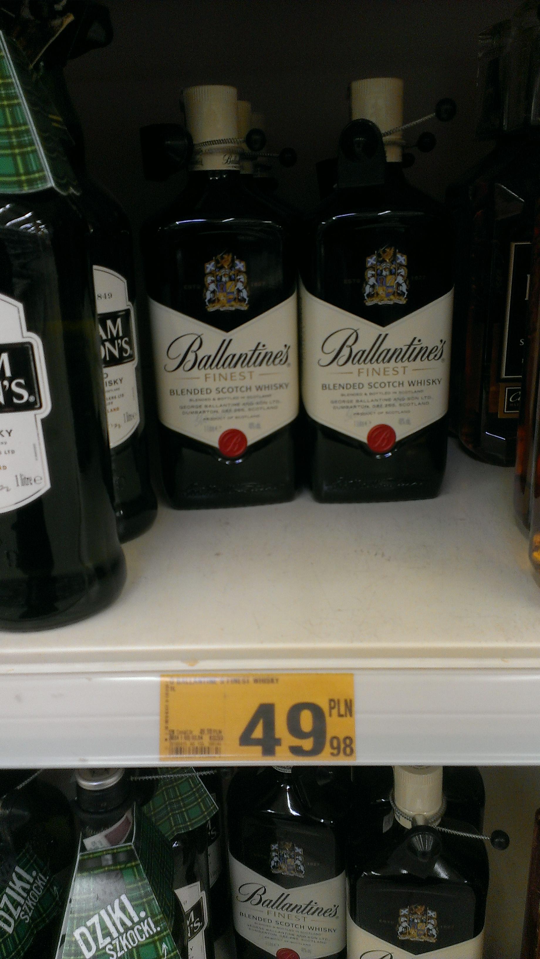 Ballantines Whisky 1L - Auchan M1 Bytom