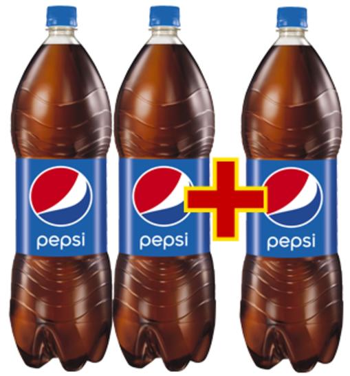 6 litrów (3 butelki po 2litry) Pepsi, Mirindy lub 7UP za 8,37 @ Intermarche