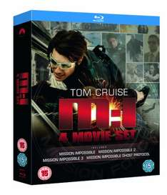Mission Impossible Quadrilogy (4 filmy, Blu-ray) za ok. 68zł @ Amazon.uk