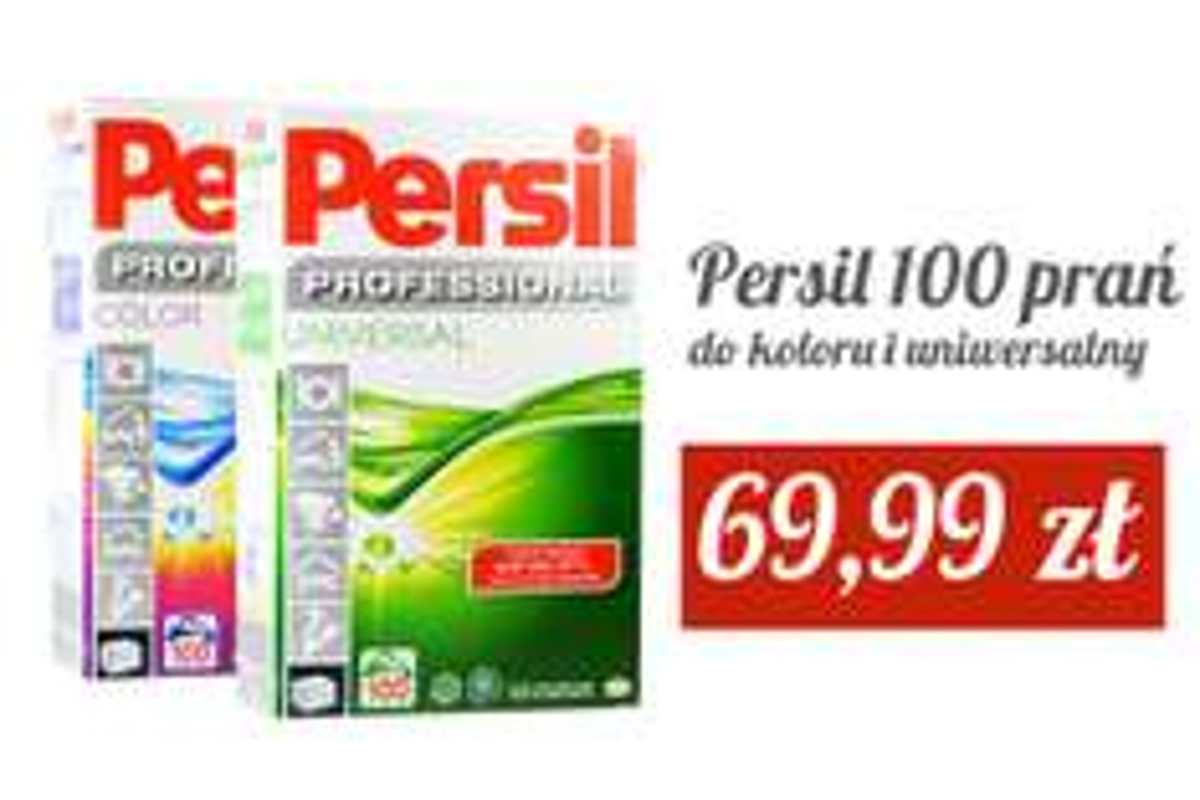 Persil:proszek na 100 prań do kolorów i uniwersalny lub kapsułki 20 szt.