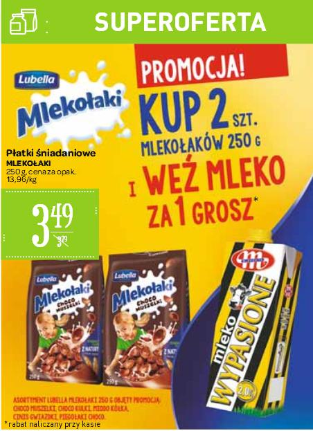 Mleko za 1gr przy zakupie dwóch opakowań Mlekołaków @ Carrefour