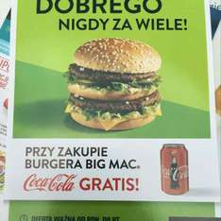 Coca-Cola gratis przy zakupie Big Mac @ McDonald's Opole