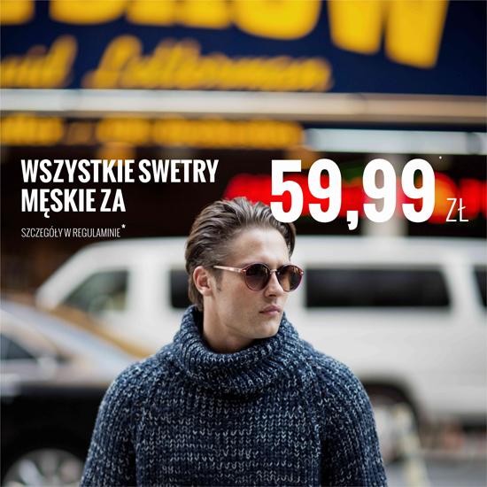 Wszystkie swetry męskie za 59,99zł @ House