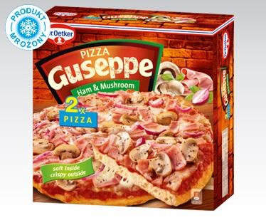 Pizza Guseppe 2x425g z szynką i pieczarkami Biedronka
