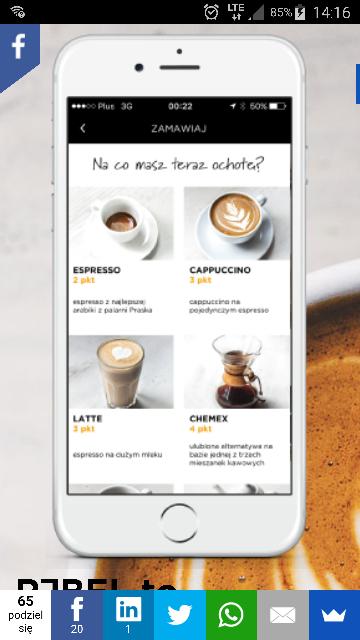 Darmowa kawa w kawiarniach niezależnych w Warszawie po instalacji aplikacji Projekt Rebel
