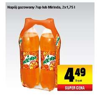 Mirinda lub 7up 2x1,75 L @BIEDRONKA - 1,30zł/litr