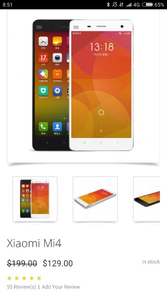 Xiaomi Mi4 !!! 129$$