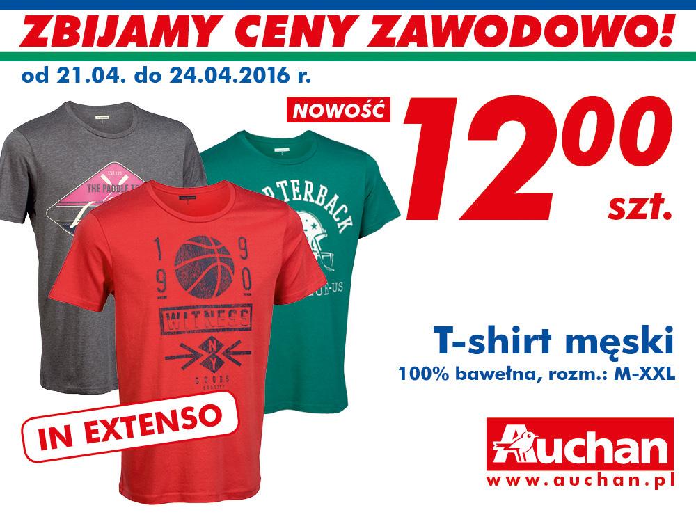 Męskie t-shirty za 12zł @ Auchan