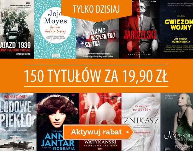 150 książek w cenie 19,90zł z darmową dostawą @ Znak