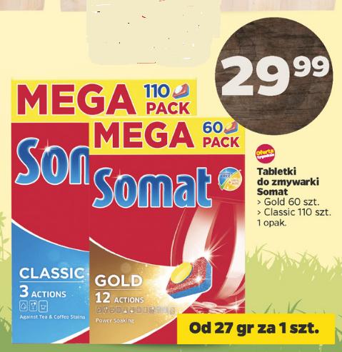 Tabletki do zmywarki Somat (60szt. / 110szt.) za 29,99zł , od 27gr za tabletkę@ Netto