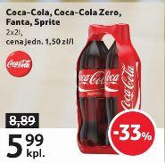 2x2L Coca-Cola, Zero,  Sprite lub Fanta za 5,99zł @ Tesco