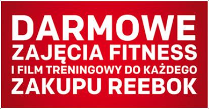 3 darmowe wejścia na fitness przy zakupie artykułu Reebok @ Intersport