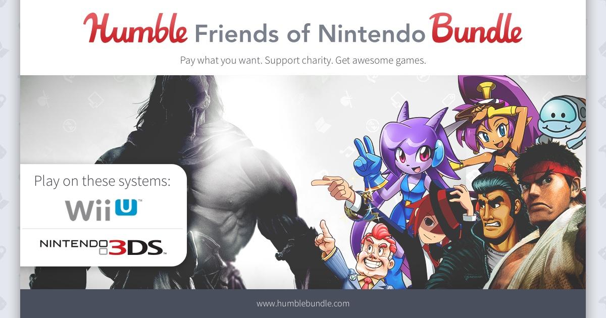 Friends of Nintendo (gry na Wii U i 3DS od ok. 3,9zł) @ Humble Bundle