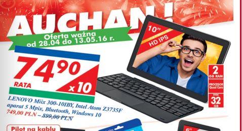 """Tablet z klawiaturą Lenovo Miix 300 (10"""", 2GB RAM, 32GB pamięci, Intel Atom Z3735F, Win 10) @  Auchan"""