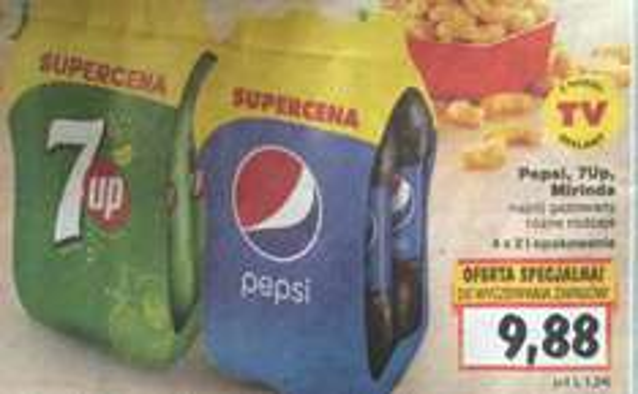 Pepsi i jej kolezanki - 4x2L / 1,24zl/litr @ kaufland