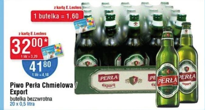Piwo Perła Export leclerc za 20 piw wychodzi 1,6 z karta