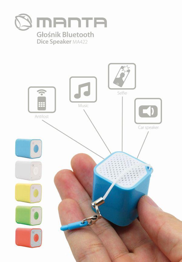 Mini głośnik Bluetooth Manta MA422 za 2,46zł (darmowy odbiór osobisty) @ Morele.net