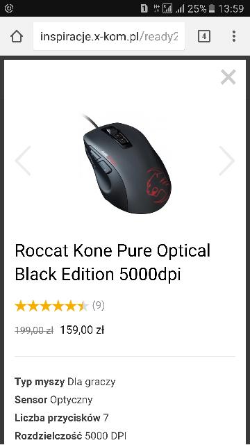 roccat kone pure optical sensor pixart 3310dh