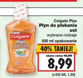 Płyn do płukania ust Colgate Plax 500ml za 8,99zł ( taniej o 6zł) @ Kaufland