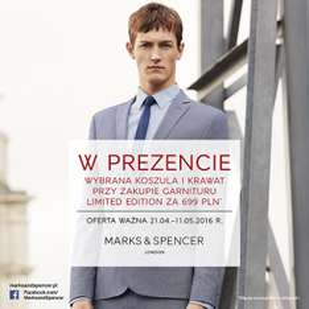Przy zakupie garnituru, koszula i krawat GRATIS @ Marks&Spencer