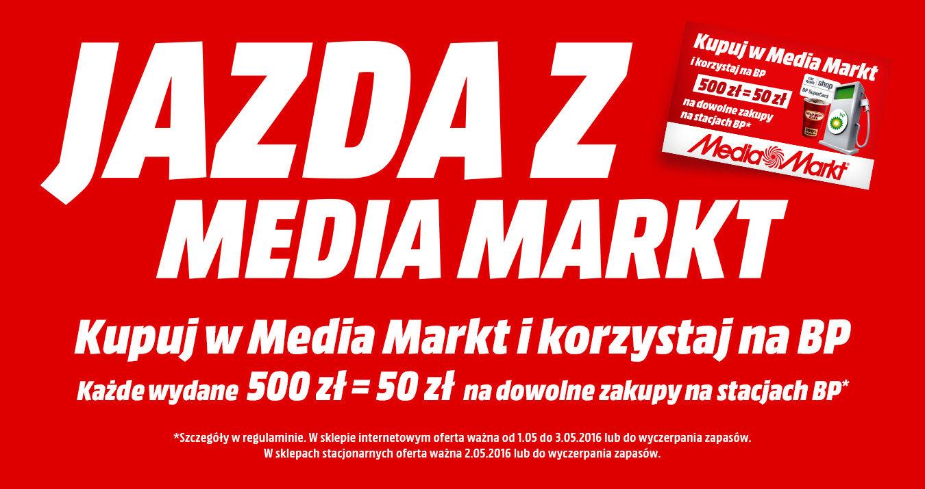 Karta podarunkowa BP 50PLN za każde 500PLN wydane w sieci Mediamarkt
