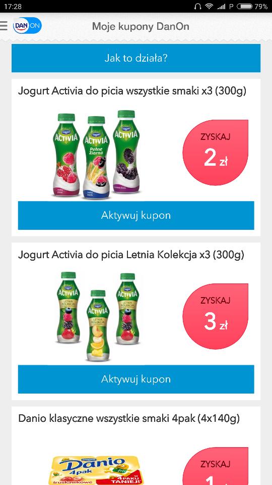 Danon = Nowe kupony zniżkowe za zakupy w każdym sklepie