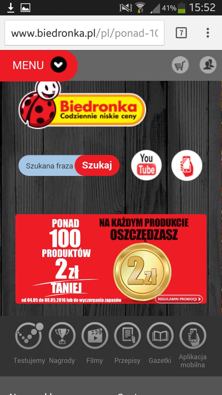 Biedronka - ponad 100 produktów 2zł taniej!