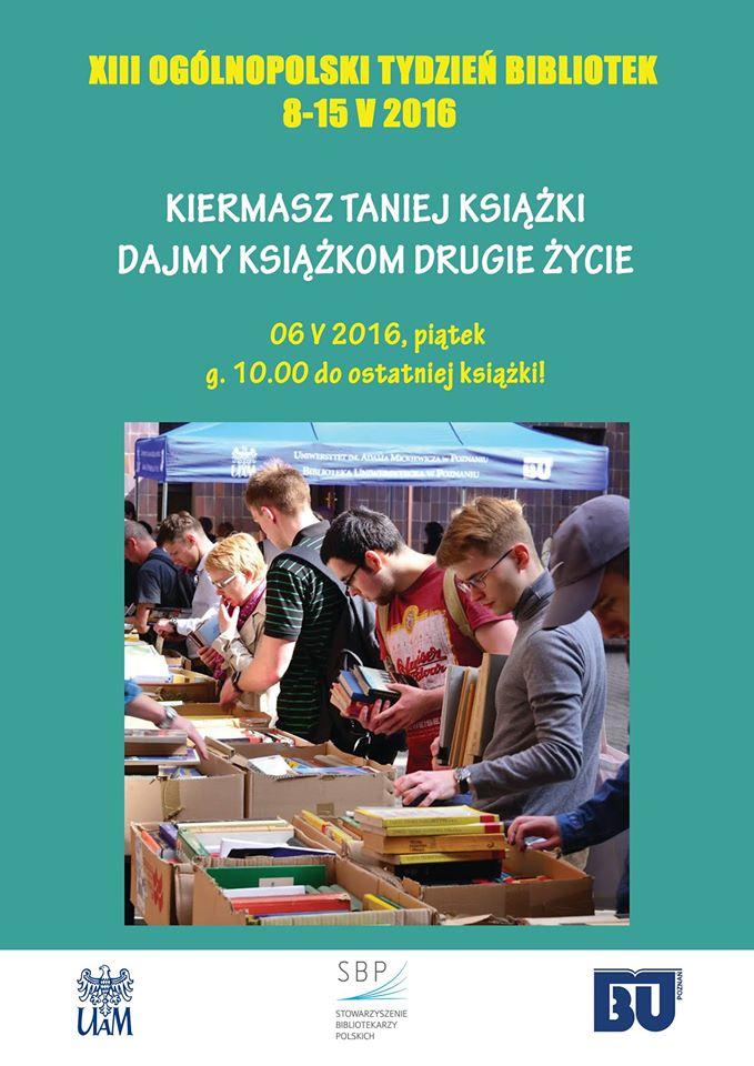 Dajmy książkom drugie życie - kiermasz Biblioteki Uniwersyteckiej (Poznań)